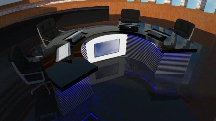 modelare 3D studio TV