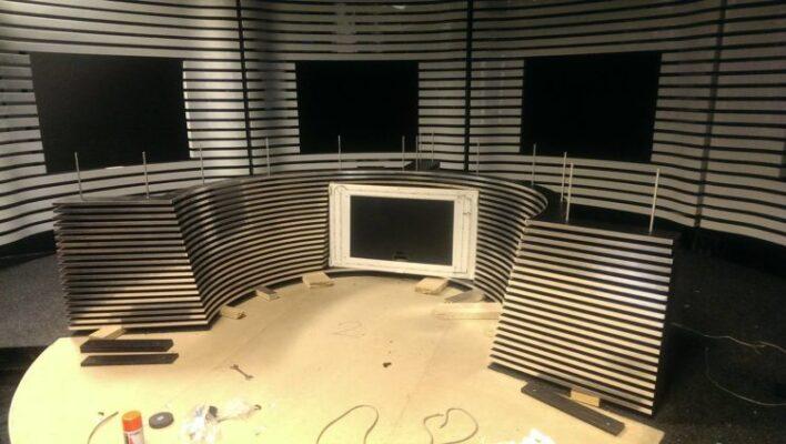 modelare 3D studio TV 7