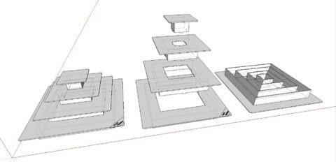 modelare 3d stand alimente