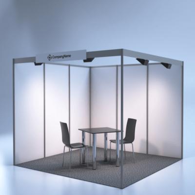 modelare si randare stand expozitional 3