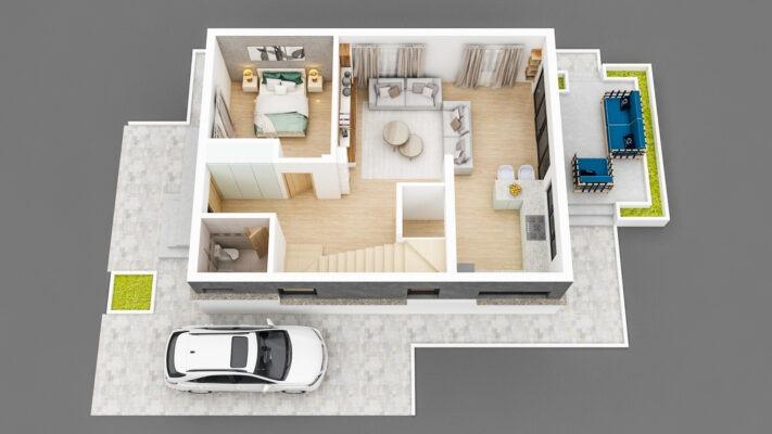 Floor 1 3D View