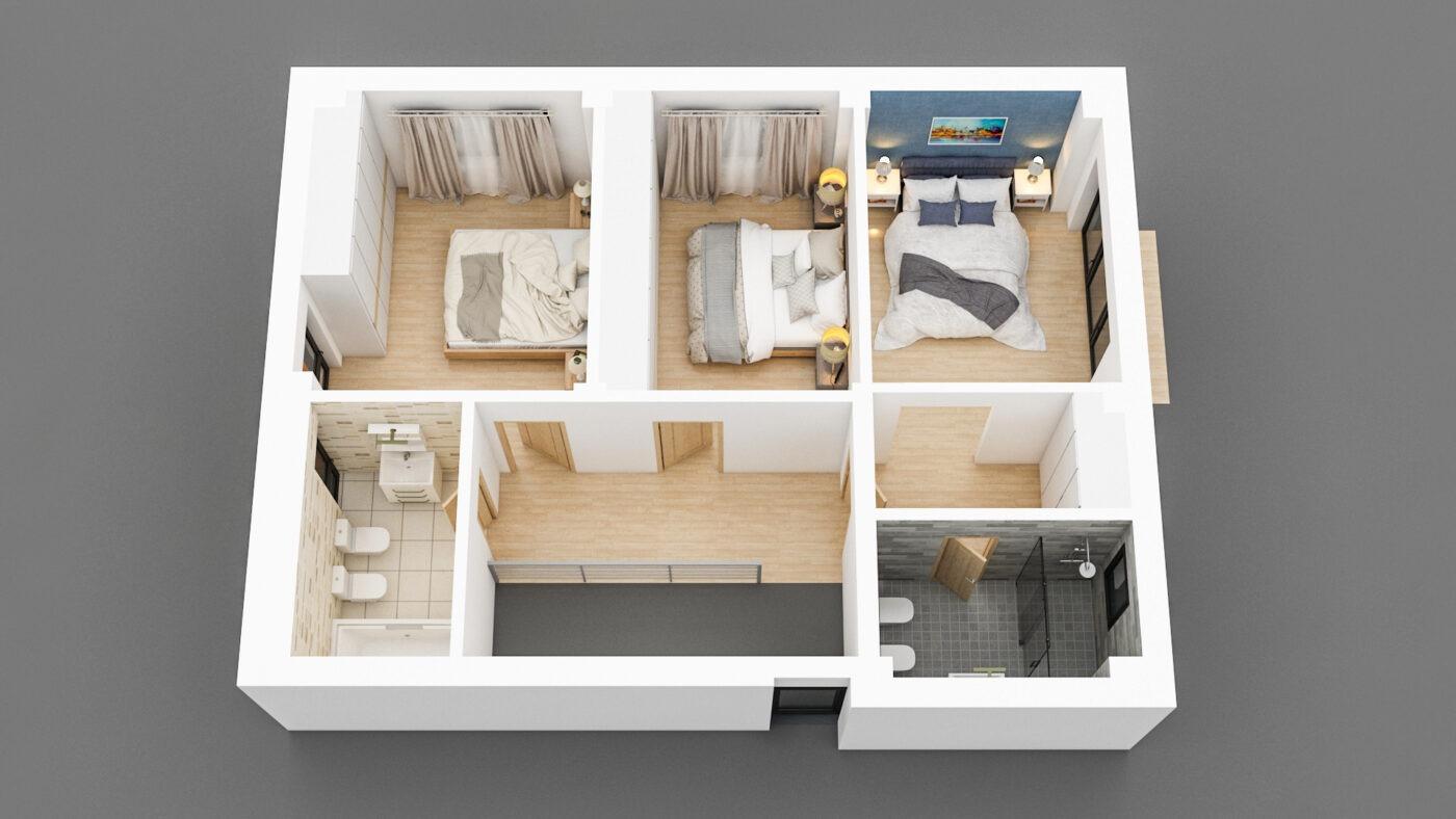 Floor 2 3D View 2