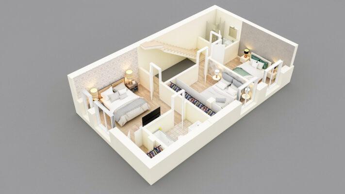 Randari 3D plan 3D